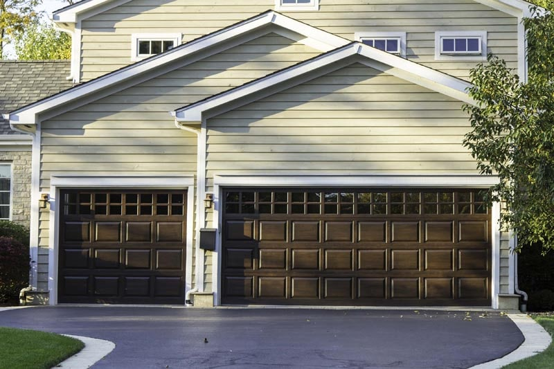 Most popular style of residential garage doors